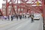 Crossing the Broadway Bridge